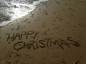 Christmas Card in the Sand