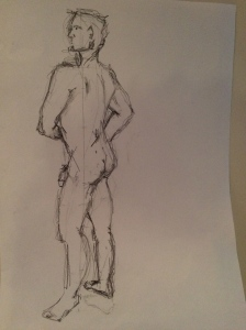 my first attempt at life drawing - shows what a good teacher can do!